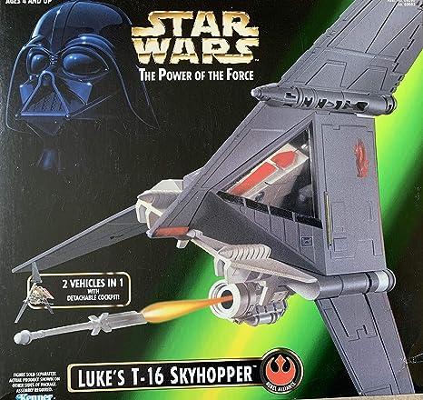 """Star Wars Action Fleet Luke Skywalker Tatooine 1/"""" Figure 1996 P T-16 Skyhopper"""