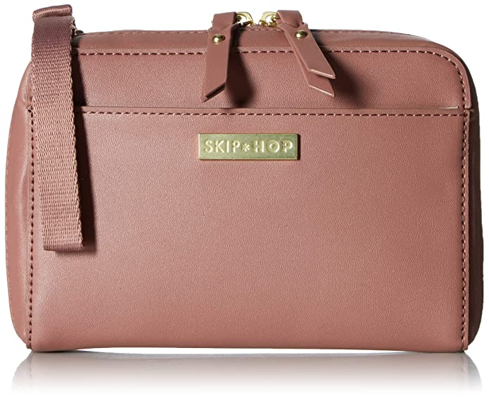 Skip Hop Adjustable Greenwich Easy-Access Convertible Hip Pack Vegan Leather - Dusty Rose