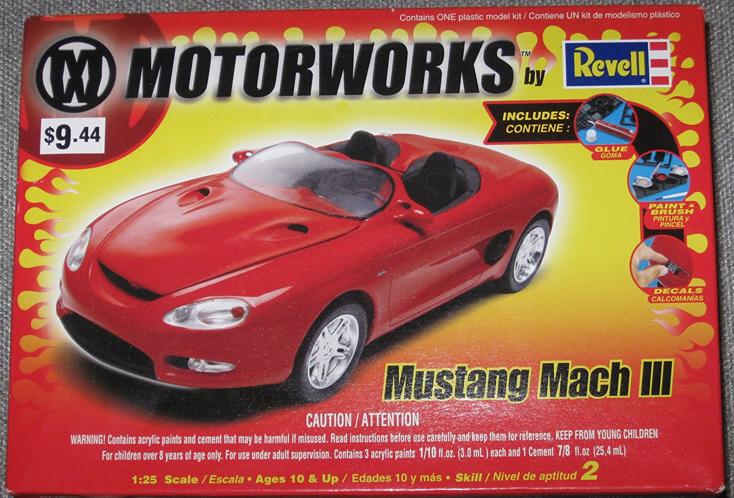 Amazon com mustang mach iii 125 scale model kit toys games