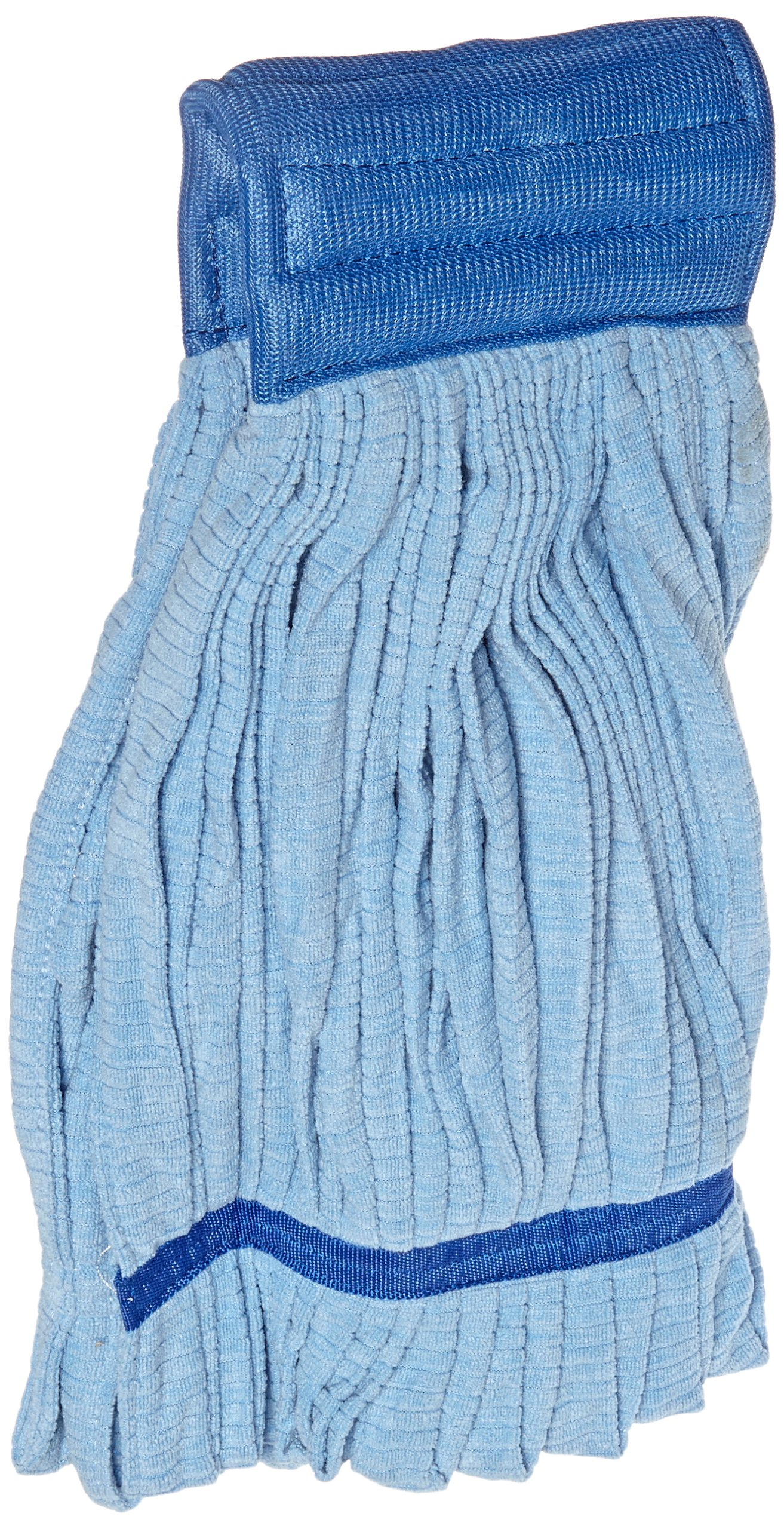Impact 3118 Microfiber Tube Wet Mop with Mesh Headband, Large, Blue (Case of 12)