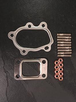Kit de montaje para Garrett T25/T28 Turbo con M8 tacos, tuercas y juntas: Amazon.es: Coche y moto