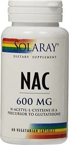 Solaray NAC N-Acetyl-L-Cysteine Supplement, 600 mg, 60 Count