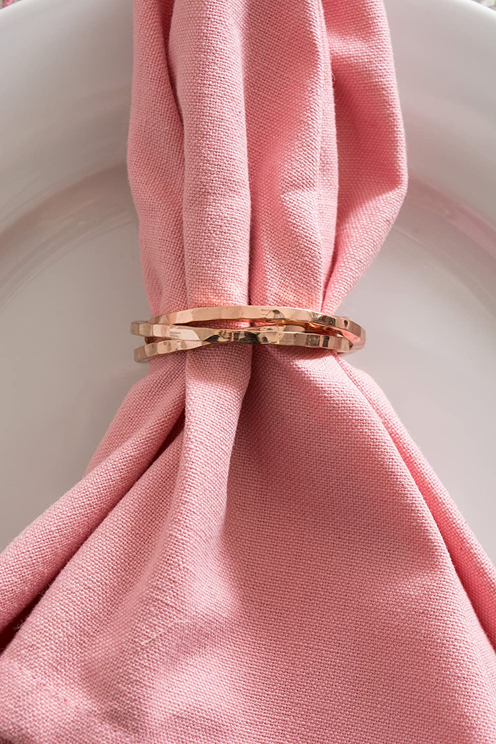 Amazon.com: DII Napkin Rings for Family Dinners, Weddings, Outdoor ...