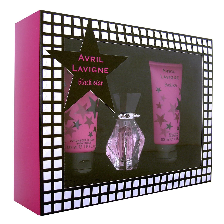 Avril Lavigne Black Star EDP Spray 15ml/ Bath and Shower Gel 50ml/ Body Lotion 50ml GST03353