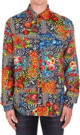 Versace Jeans Camisa para Hombre Print 48: Amazon.es: Ropa y accesorios