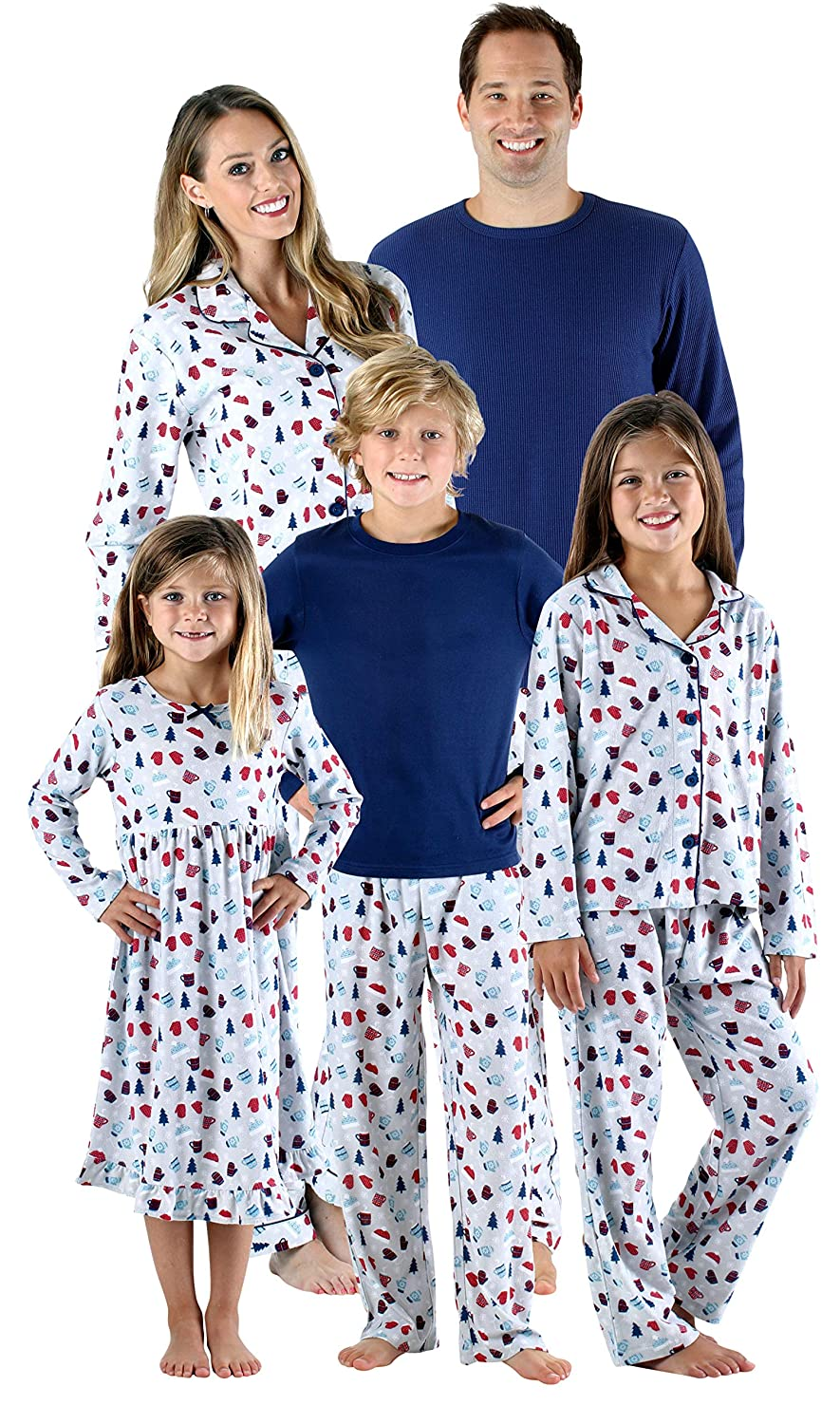 SleepytimePjs Holiday Family Matching Hot Cocoa PJs Sets for The Family