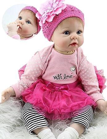 Amazon.com: Muñeca de bebé reborn hecha a mano, aspecto de ...