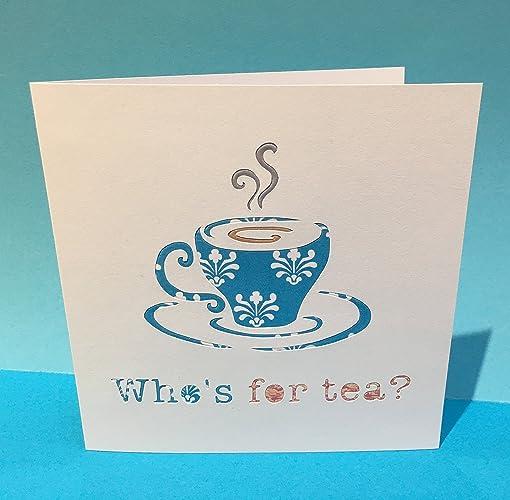 40th Birthday Card Fortieth Birthday Card Cup Of Tea Handmade