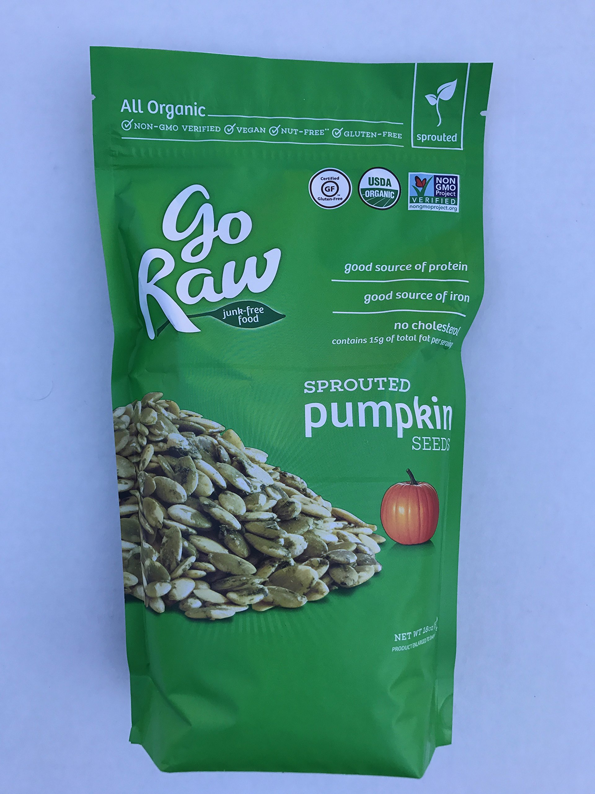 Go Raw Sprouted Pumpkin Seeds, LARGE VALUE bag of 1.125 pounds by Go Raw