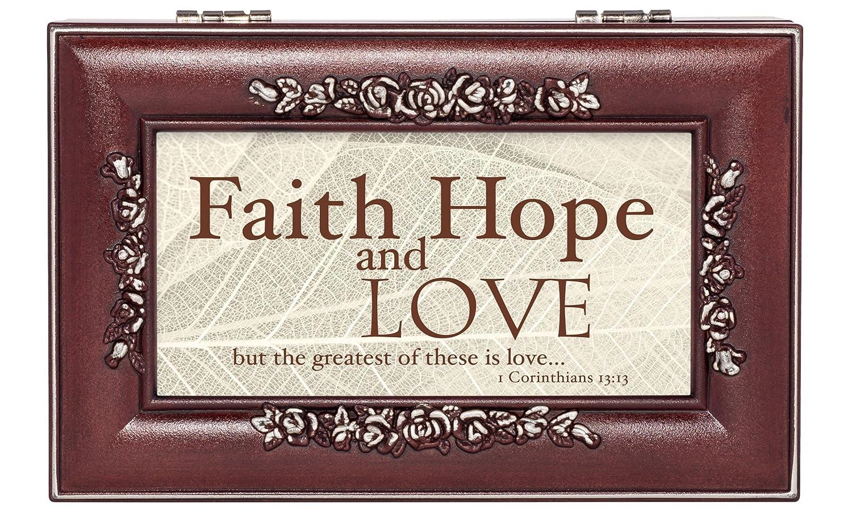 高級ブランド Faith Hope Love 1 Corinthians Love 13 : My 13 Leavesローズウッド仕上げジュエリー音楽ボックスPlays 13 You Are My Sunshine B01GD2B6CO, PORKY'S:9e1ac176 --- arcego.dominiotemporario.com