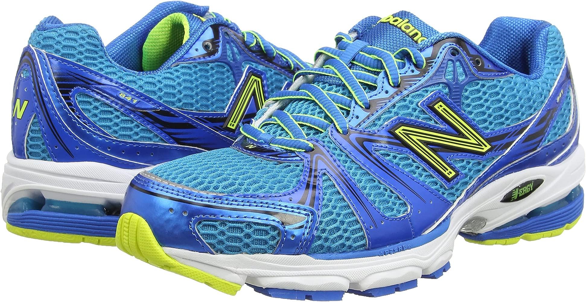 New Balance M841By - entrenamiento/correr de sintético hombre, Blu (Blu (Blue/Yellow)), talla 41.5: Amazon.es: Zapatos y complementos