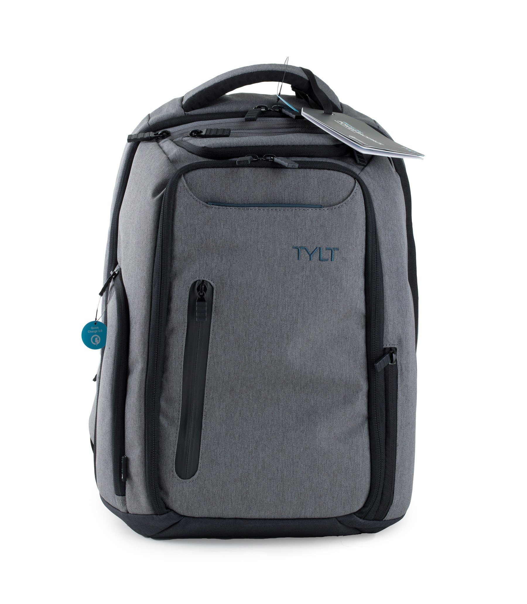 7526e8ac52a3 TYLT Energi Pro Power Backpack with Charging Station - Charge Up to 3  Devices at Once via USB or USB Type-C Ports
