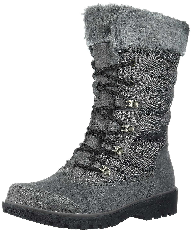 BareTraps Women's Satin Snow Boot, Mud, 6 M US B0711FFCSY 9 B(M) US|Dk Grey