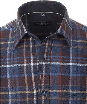CASAMODA - Camisa de franela para hombre, diseño a cuadros azul oscuro. XXXL: Amazon.es: Ropa y accesorios