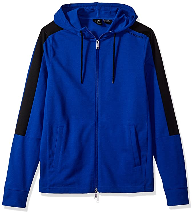 A|X Armani Exchange Men's Color Block Detail Zip up Hoodie