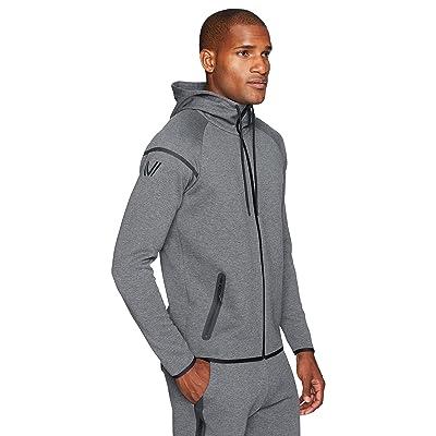 Brand - Peak Velocity Men's Metro Fleece Full-Zip Athletic-Fit Hoodie: Clothing