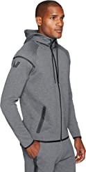 Peak Velocity Men's Metro Fleece Full-Zip Athletic-Fit Hoodie