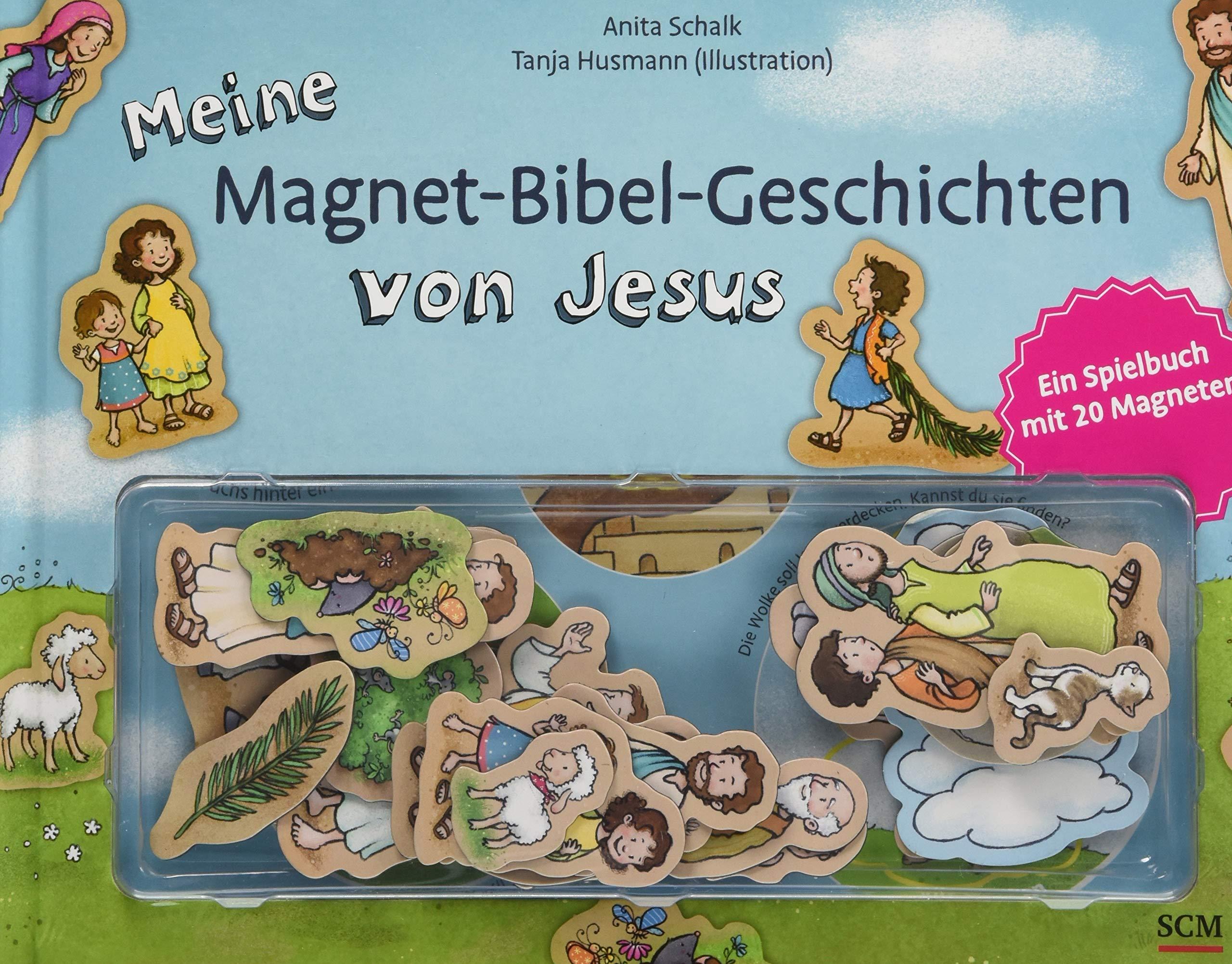 Meine Magnet-Bibel-Geschichten von Jesus: Ein Spielbuch mit 20 Magneten