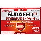 Sudafed 12 Hour Pressure + Pain Caplets, Sinus Pain Relief, 24 Count