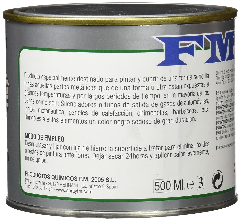 Fm 207054 - Bote Pintura 500Cc.Anticalorica Negro: Amazon.es: Bricolaje y herramientas