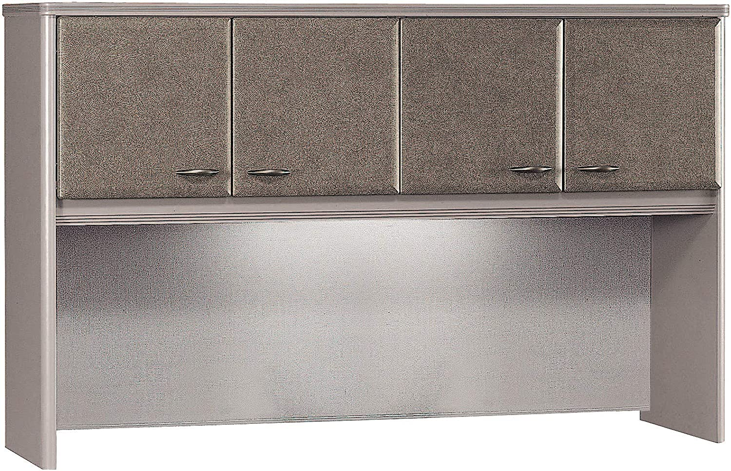 Bush Business Furniture Series A Collection 60W Hutch in Pewter