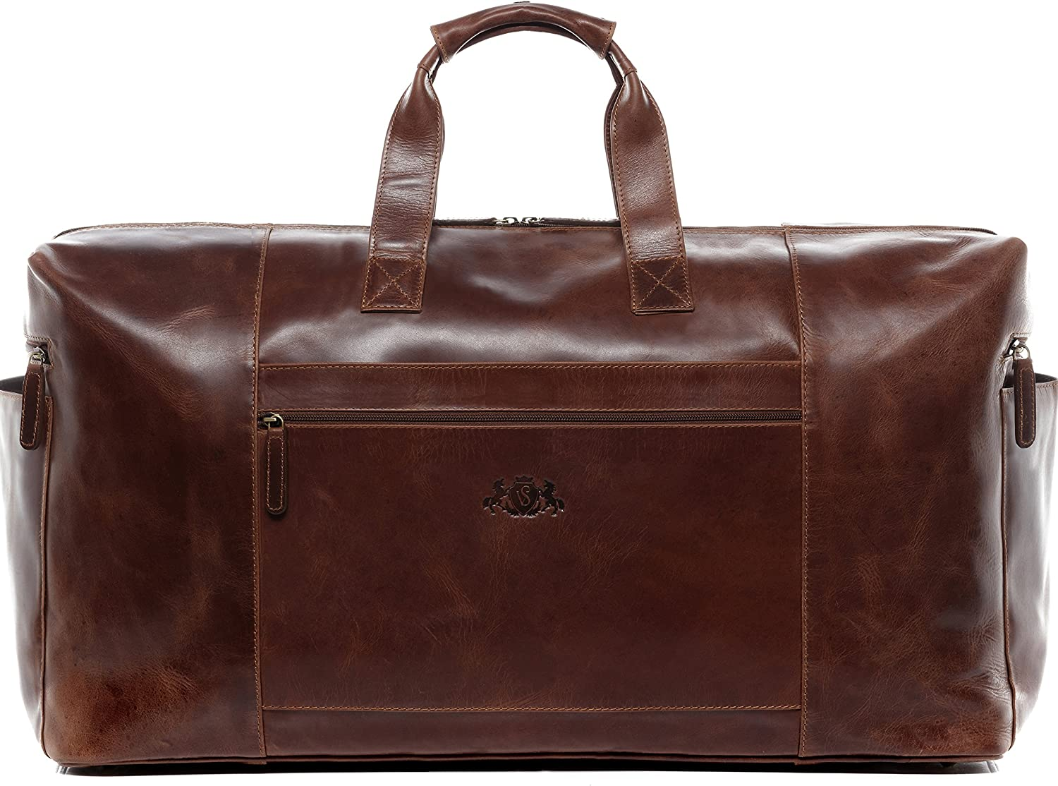 SID VAIN leather travel bag holdall BRISTOL XXL duffel bag weekender duffle