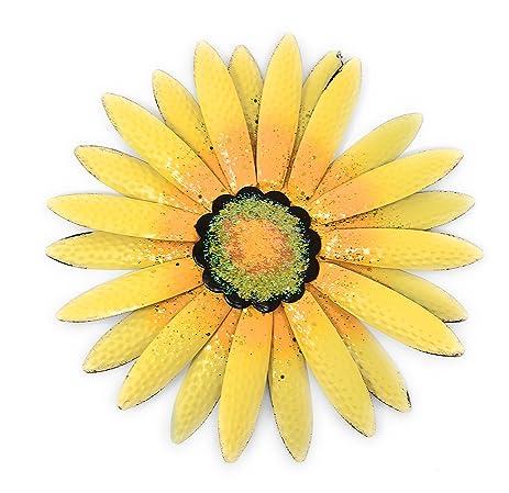 Amazon.com: Metal Wall Art Decor Nature Inspired Flower Sculptures ...