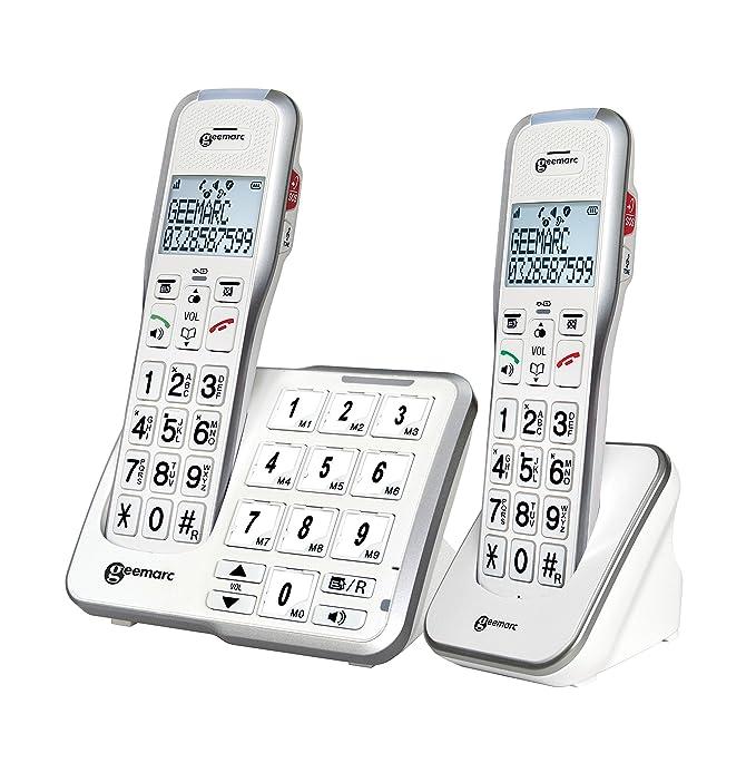 FototastenAnrufbeantworterSprachansage 50 Und Db Sos Duo2 Geemarc Schnurlose Amplidect 595 Taste Schwerhörigentelefone Mit Verstärkte luTFK1c35J