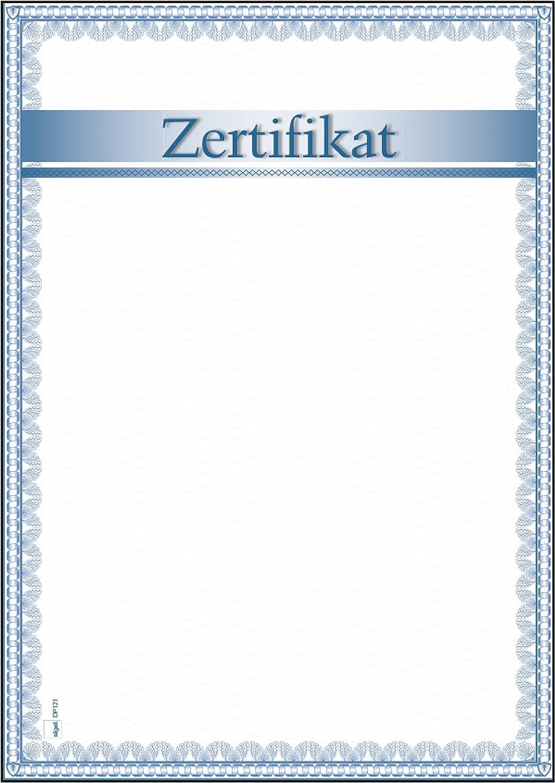 Sigel DP121 Motiv-Papier Zertifikat, DIN A4, 185 g/m², 12 Blatt ...