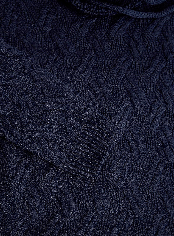 oodji Ultra Men's Textured Large Collar Pullover