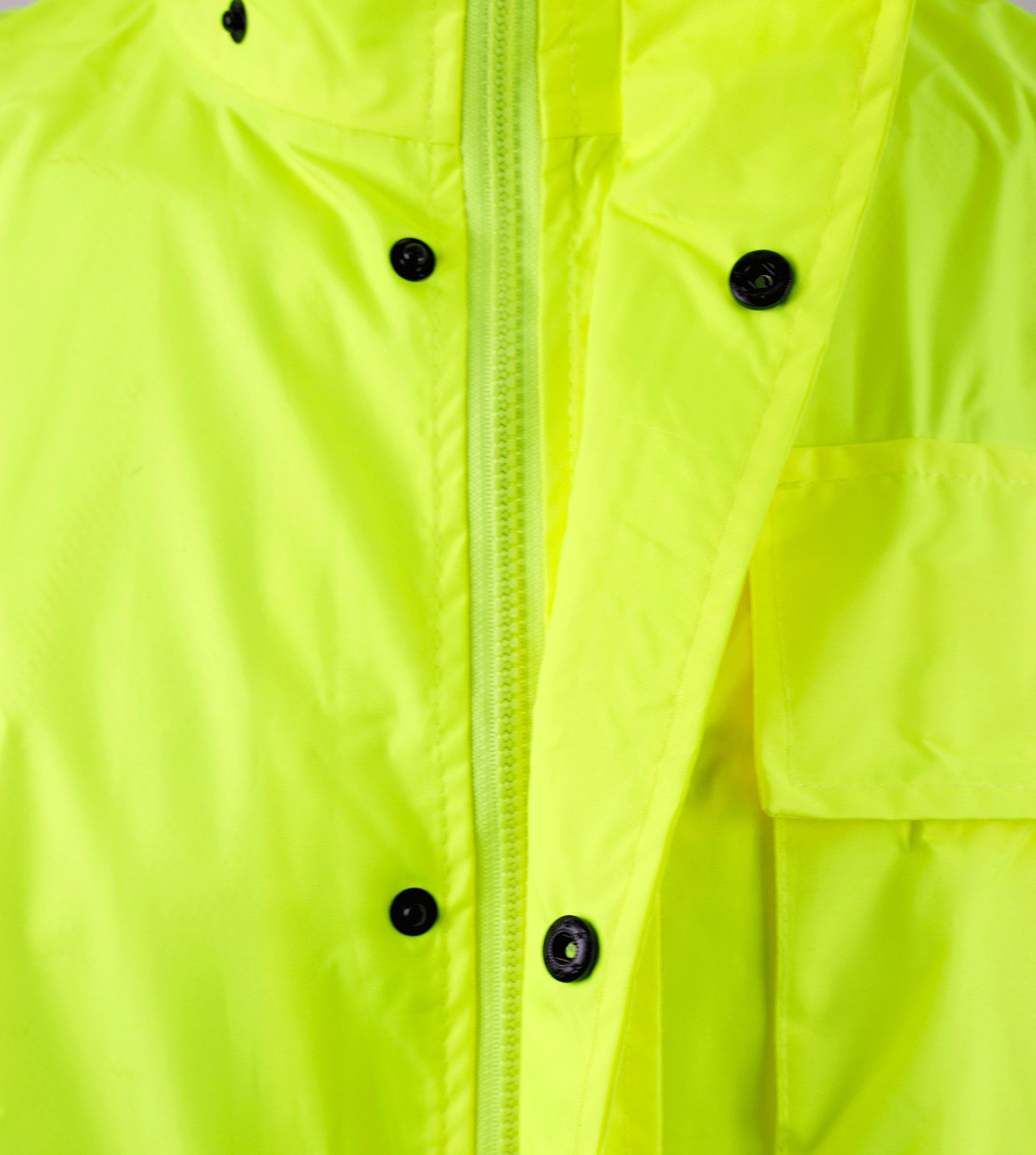 RK Safety Class 3 Rain suit, Jacket, Pants High Visibility Reflective Black Bottom RW-CLA3-LM11 (Medium, Lime) by New York Hi-Viz Workwear (Image #2)