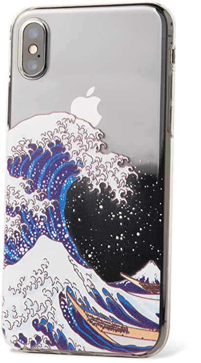 hot sale online 6da17 6df86 Amazon.com: ZUKOU iPhone Xs Clear case, Printed The Great Wave Off ...