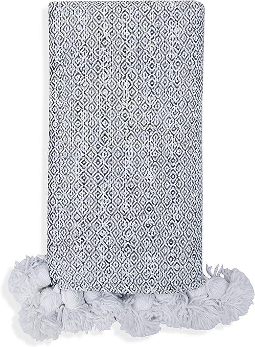 Poufs&Pillows - Manta de Lana y algodón, 1 x 2 m, diseño marroquí ...