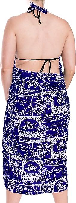 LA LEELA Womens Plus Size Swimsuit Cover Up Summer Beach Wrap Skirt Full Long K