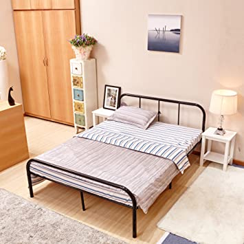 greenforest full size bed framestable metal slat supportno boxspring neededwith