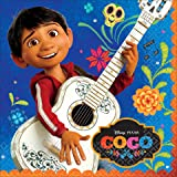 Disney - Pixar COCO movie Large Luncheon Napkins 16 Pack Birthday Party Supplies Day of the Dead