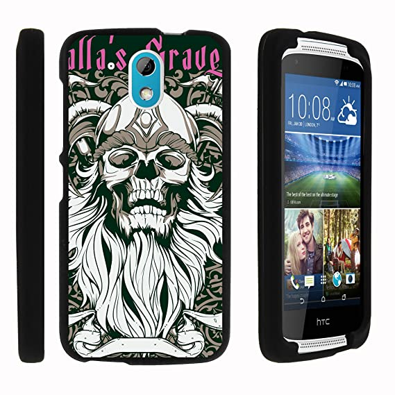 sale retailer bd101 5f3fa HTC Desire 526G Case, Full Body Snap on Hard Cell Phone Cover Intense Skull  Design Collection by Miniturtle - Viking Skull