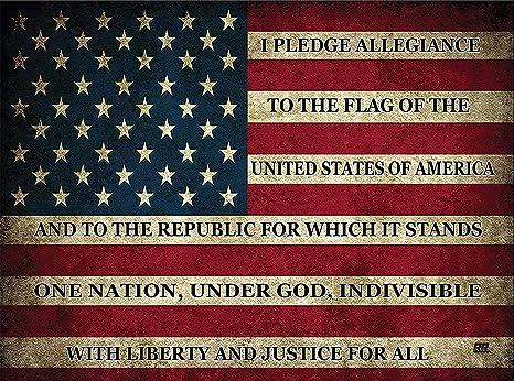 Amazon.com: Pledge of Allegiance - Tabla de cortar de ...