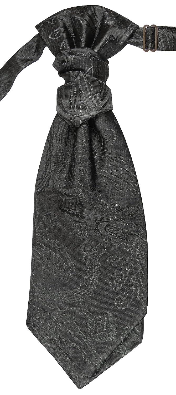 Hochzeitskrawatte schwarz paisley Plastron Hochzeitsmode für Herren by Paul Malone PMPSv2