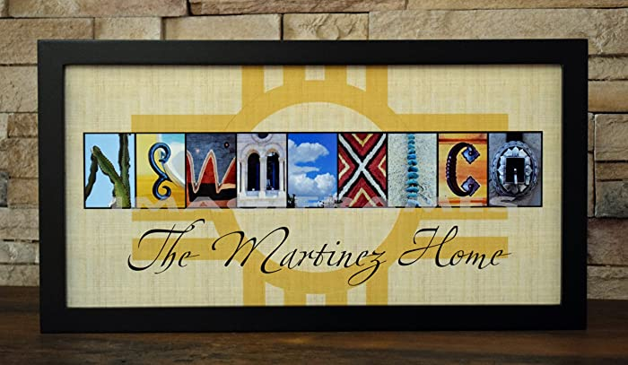Amazon.com: NEW MEXICO NAME FRAME - Framed Photo Letter Art ...