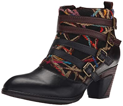 Spring Step Womens Black Multi Boots Redding