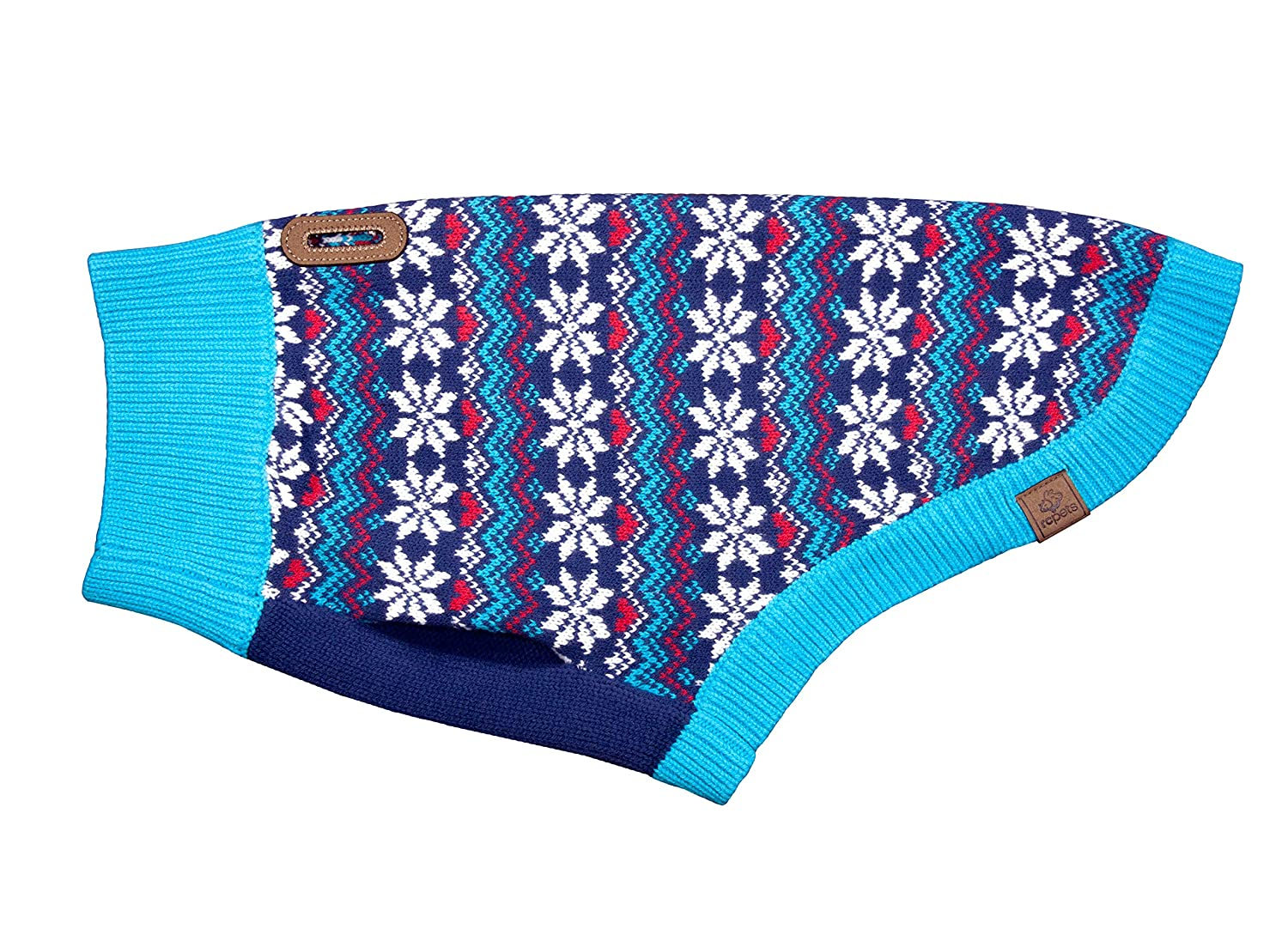 RC Pet Products 66802306 Highland Dog Sweater, Classic Fair Isle, X-Small