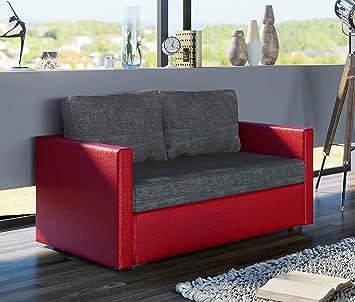 Vcm 2er Schlafsofa Sofabett Couch Sofa Mit Schlaffunktion Sinsa Rot