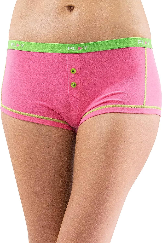 Play Intimo Womens Comfy Cozy Boyshort Underwear