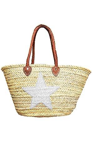 0bd113e77f8ee ORIGINAL Ibiza Tasche Korbtasche Strandtasche Celia 50cm groß |  Marokkanische Palmblatt Einkaufskorb Einkaufstasche geflochten XXL