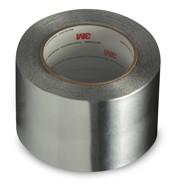 3M Aluminum Foil Tape 3380, Silver, 72 mm x 45 m, 3.25 mil