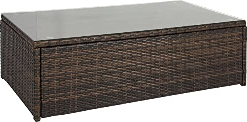 Best Choice Products All-Weather Wicker Indoor Outdoor Coffee Table
