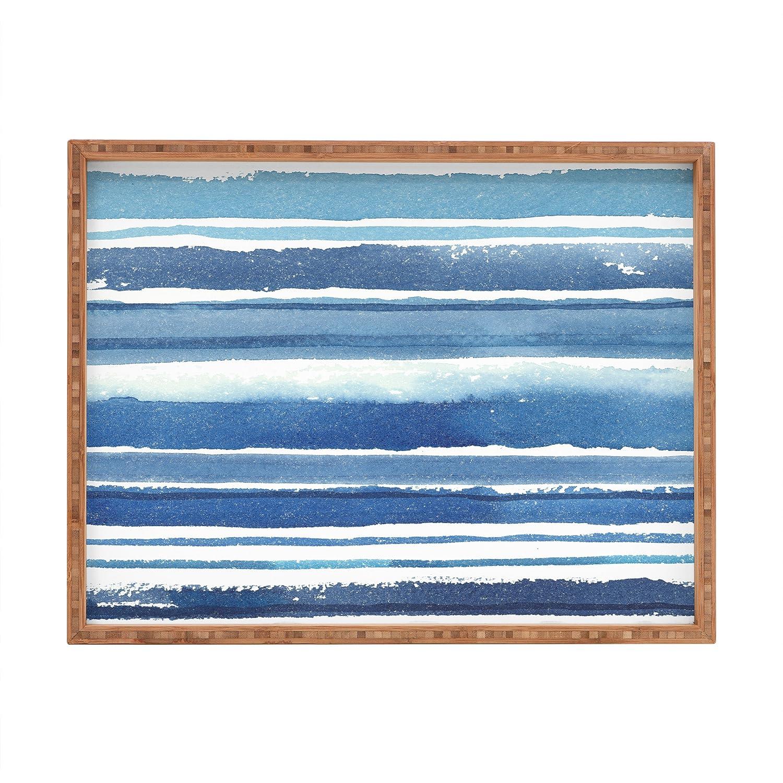 Deny Designs Kerrie Satava Caribbean Shore Indoor//Outdoor Rectangular Tray 14 x 18