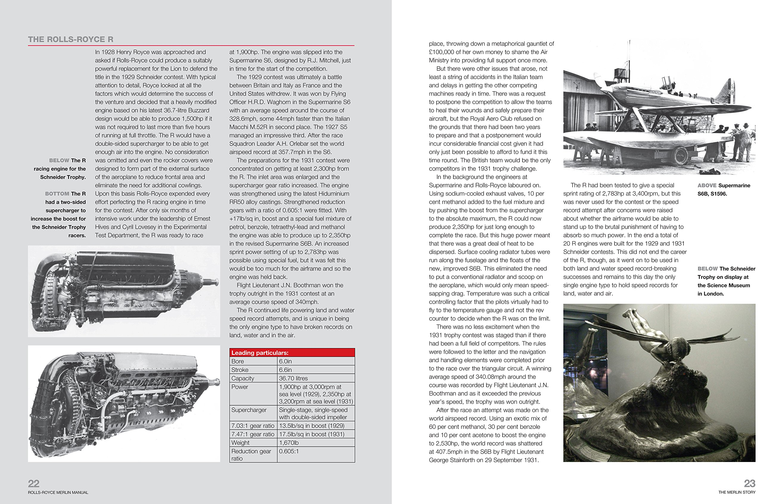 Rolls-Royce Merlin Manual - 1933-50 (all engine models): An insight into  the design, construction, operation and maintenance of the legendary World  War 2 ...