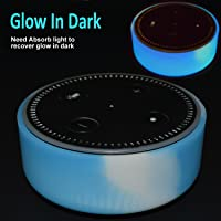 Silicone Case for Amazon Echo Dot by Auchee - Stylish Dress Up Cover Case fits Echo Dot 2nd Generation only (Noctilucent Sky Cloud)